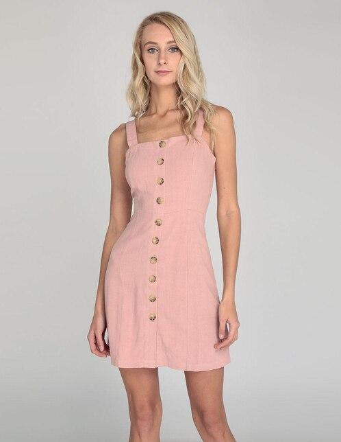 138b0c4591f8f Vestido Aéropostale rosa claro casual