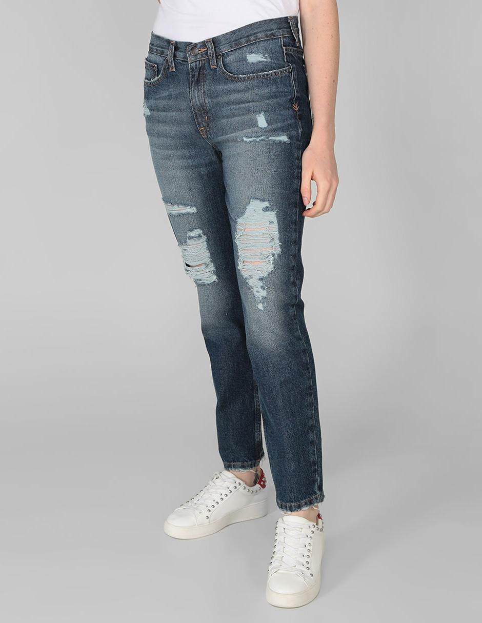 Jeans Boyfriend Aeropostale Corte Straight Azul Medio En Liverpool