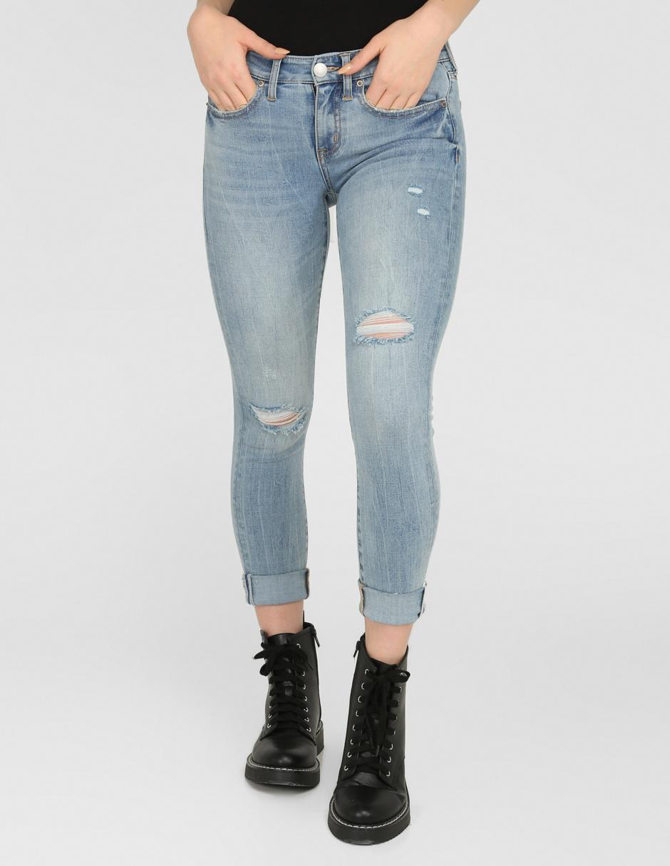 Jeans Aeropostale Corte Slim Azul Claro En Liverpool